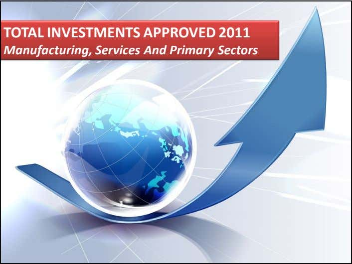 TOTAL INVESTMENTS APPROVED 2011 Manufacturing, Services And Primary Sectors