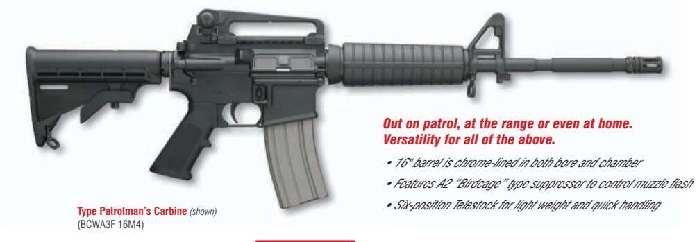Out on patrol, at the range or even at home. Versatility for all of the