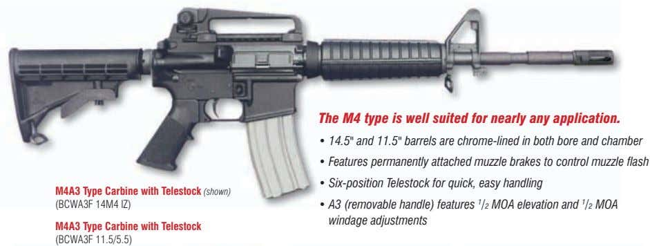 "the m4 type is well suited for nearly any application. • 14.5"" and 11.5"" barrels"