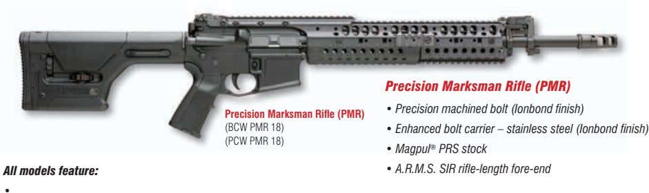 Precision Marksman Rifle (PMR) • Precision machined bolt (Ionbond finish) Precision Marksman Rifle (PMR) (BCW