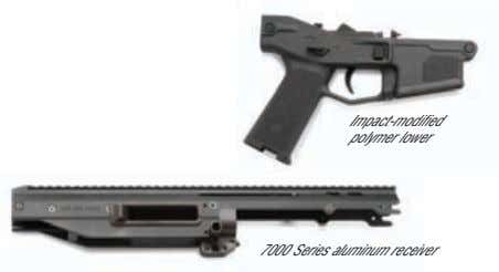 Impact-modified polymer lower 7000 Series aluminum receiver