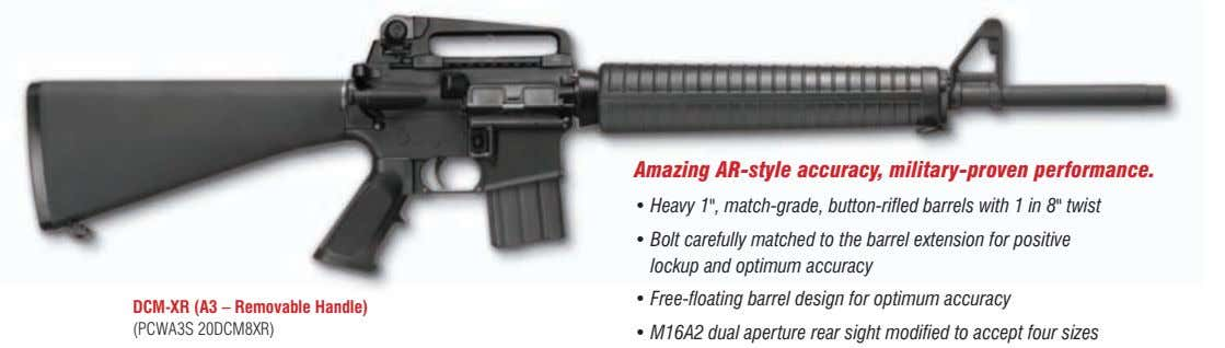 "Amazing AR-style accuracy, military-proven performance. • Heavy 1"", match-grade, button-rifled barrels with 1 in"