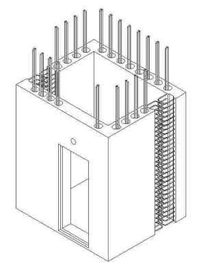 'L-shaped' wall panels for shelter construction Fig. 1.30 – Precast household shelter in 2 separate