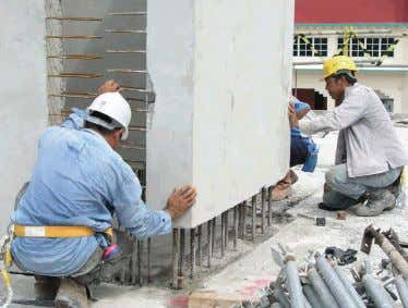 SOLUTIONS FOR HIGH-RISE RESIDENTIAL DEVELOPMENT CHAPTER 1 27 Fig. 1.31 – Installation of precast household shelter