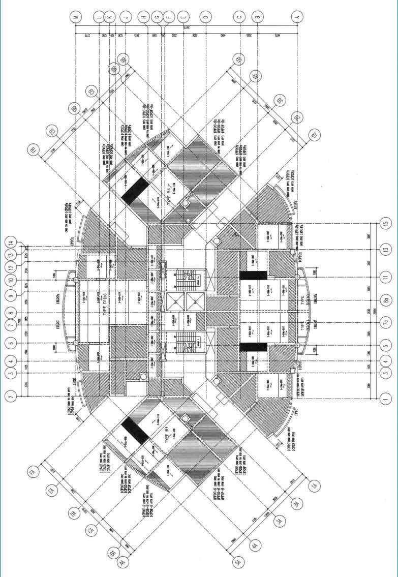 SOLUTIONS FOR HIGH-RISE RESIDENTIAL DEVELOPMENT CHAPTER 4 67 Fig. 4.5 – Typical floor layout showing floor