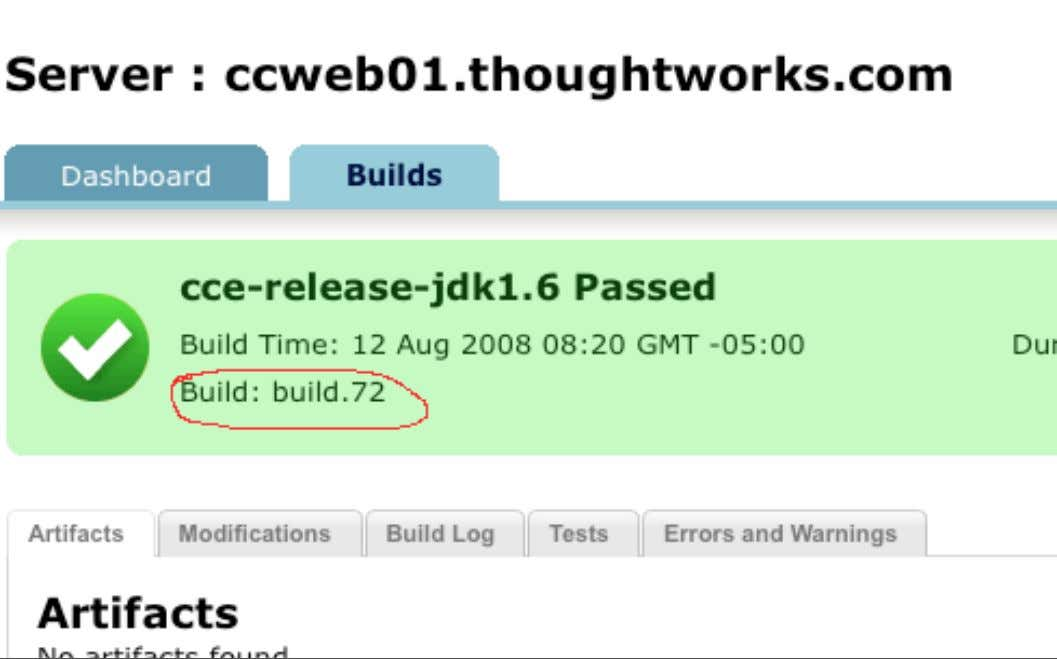 Release Management: Build label Wednesday, 11 March 2009