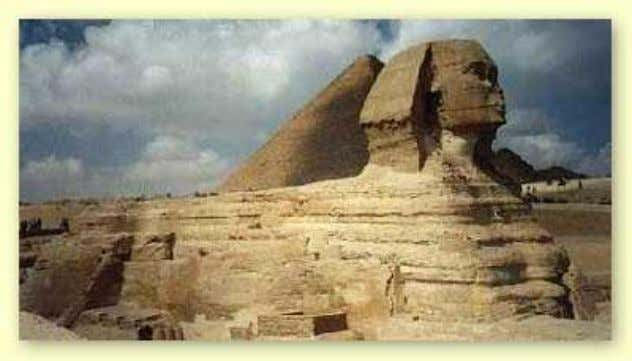 • Below the neck, the Great Sphinx has the body of a lion, with paws, claws