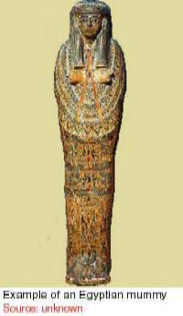 Mummification To ensure the availability of a body to the ka of a dead person, the