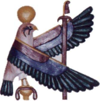 Horus .......... Brother of Osiris. He who is above.