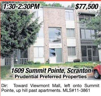 $77,500 1609 Summit Pointe, Scranton Prudential Preferred Properties Dir: To ward Viewmont Mall, left onto