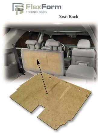 Automotive door liner made with FlexForm® composite sheet shows how fasteners can be bonded and integrated