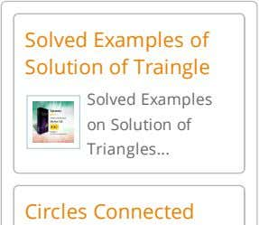 Solved Examples of Solution of Traingle Solved Examples on Solution of Triangles Circles Connected