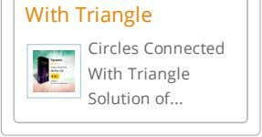 With Triangle Circles Connected With Triangle Solution of