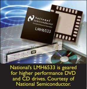 National's LMH6533 is geared for higher performance DVD and CD drives. Courtesy of National Semiconductor.