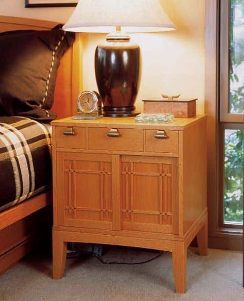 Freestanding pieces complement the built-ins. Similar exposed joinery and design details went into the nightstands and