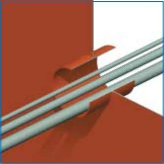 RISE ® MULTI-CABLE PENETRATIONS (available on video) 1) The cables can be ducted through the conduit