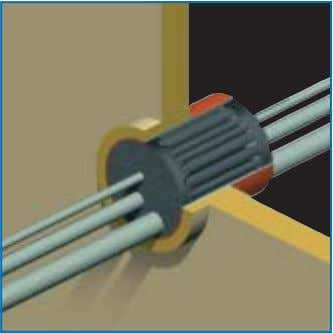 especially at penetrations with larger amounts of cables. 12) For A-class penetrations the conduit sleeve/frame needs
