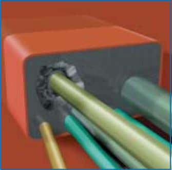 or less corresponding to the outer diameter of the cable. 6) Pull the cable through the