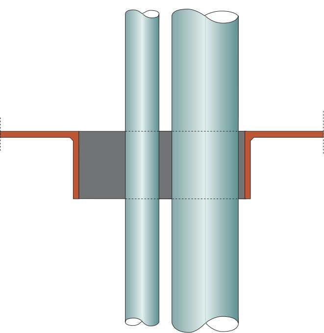 60 mm. Tightness 2.5 bar. LRS certificate APE 0109113/1 In case the conduit has limited dimensions,