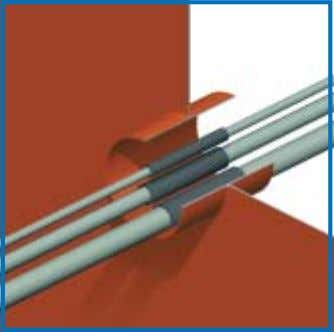 - NO SPECIAL CONDUIT FRAMES - VERY COMPACT ASSEMBLY After all the cables have been ducted,