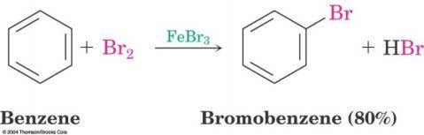 16.1 Bromination of Aromatic Rings  Benzene's  electrons participate as a Lewis base in reactions