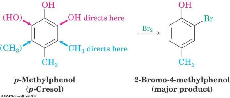 Substituents with Opposite Effects  If the directing effects of two groups oppose each other, the