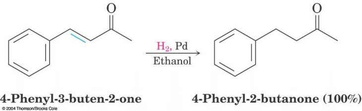 16.11 Reduction of Aromatic Compounds  Aromatic rings are inert to catalytic hydrogenation under conditions that