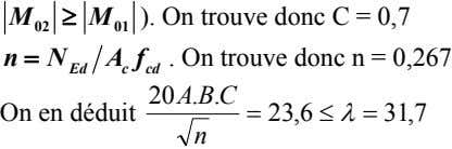 M  M ). On trouve donc C = 0,7 02 01 nN A f