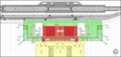 Existing departure forecourt layout Boarding Gates Capacity Proposed departure forecourt layout Assessment of gate