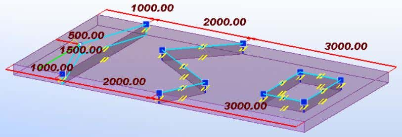 DRAFT - Tekla Structures 21.0 Beta, January 2015 The previous line and plane handles of pour