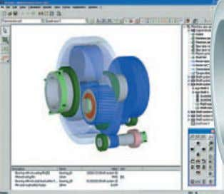 allows rolling bearing supports to be analyzed in detail – from single bearings via complex shaft