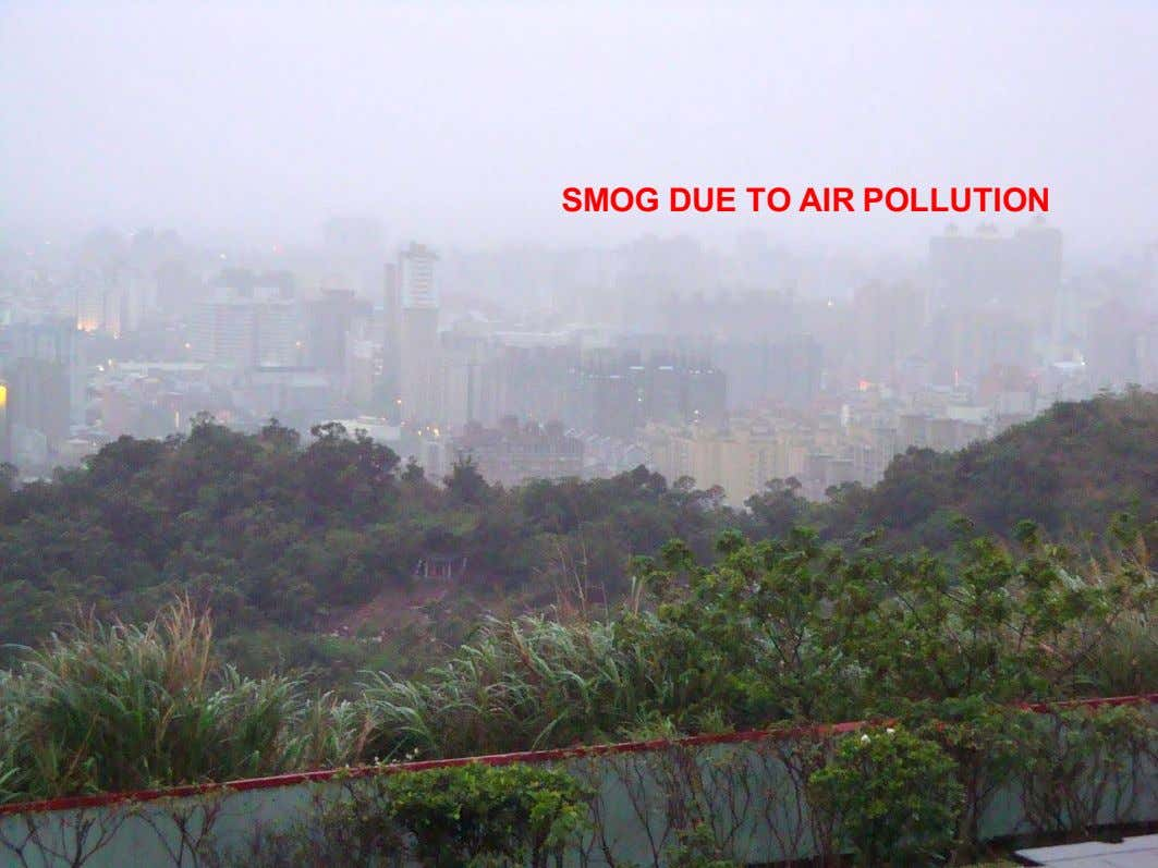 SMOG DUE TO AIR POLLUTION