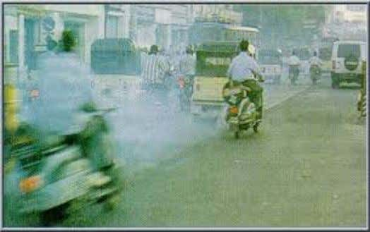 AIR POLLUTION DUE TO VEHICLES Total vehicles: 78 LAKHS Daily reg: 3000+ From other states: