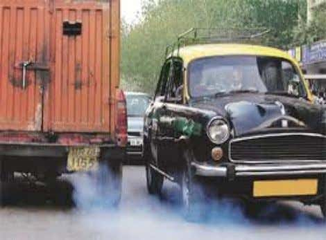 AIR POLLUTION DUE TO VEHICLES Total vehicles: 78 LAKHS Daily reg: 3000+ From other states: 20-30,