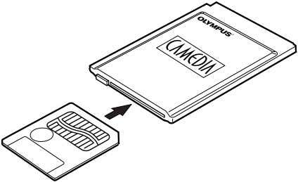 PC card reader/writer, using the optional PC Card Adapter. FlashPath floppydisk adapter The picture data in
