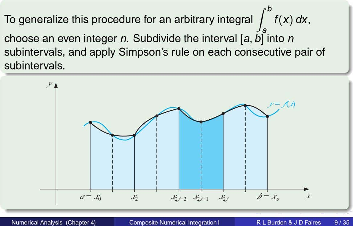b To generalize this procedure for an arbitrary integral f (x) dx, a choose an