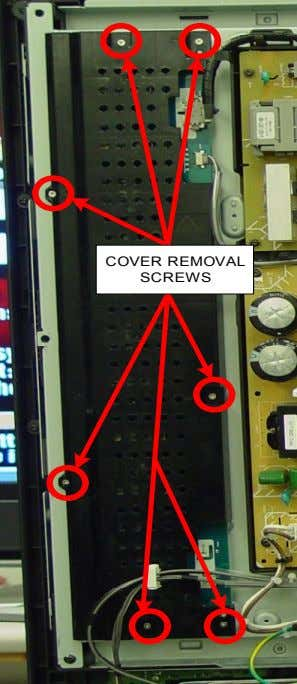 COVER REMOVAL SCREWS