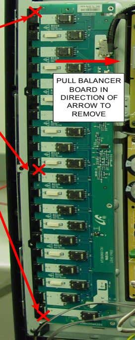 PULL BALANCER BOARD IN DIRECTION OF ARROW TO REMOVE