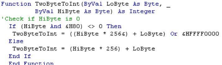 into a VBA Integer. The read bytes represent an integer in the CPU. Figure 5 -