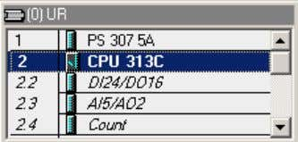 you select CPU313C and delete it from the project. Confirm the delete process in the following