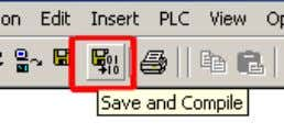 9. Save and compile the hardware configuration. Close the hardware configuration.