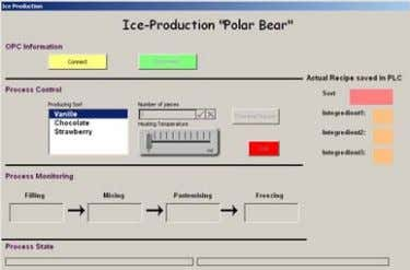 1. Open the Excel file IceProduktion.xls. The Ice Production dialog appears.