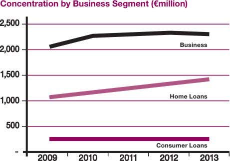 Concentration by Business Segment (€million) 2,500 Business 2,000 1,500 Home Loans 1,000 500 Consumer Loans