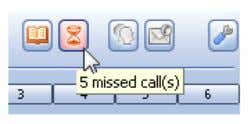 over the button, the number of missed calls will be shown. • To see more details