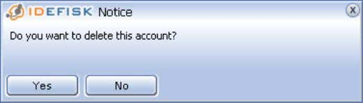on your keyboard. A confirmation popup will appear: After entering an account name, press the OK