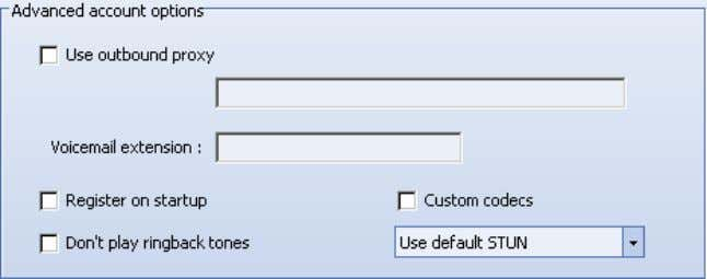 options checkbox at the bottom of the Options window. Use outbound proxy This option is for
