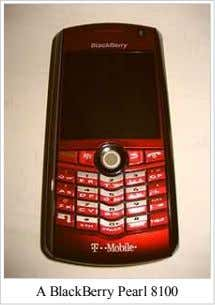 A BlackBerry Pearl 8100