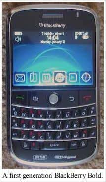 A first generation BlackBerry Bold.