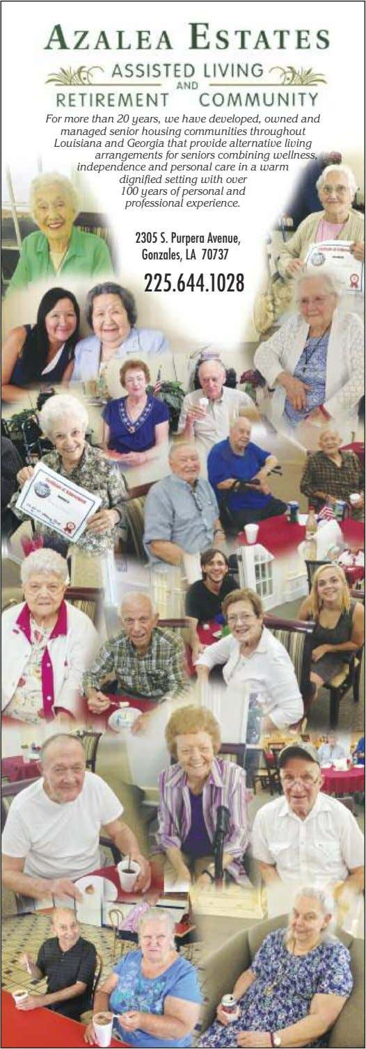 For more than 20 years, we have developed, owned and managed senior housing communities throughout