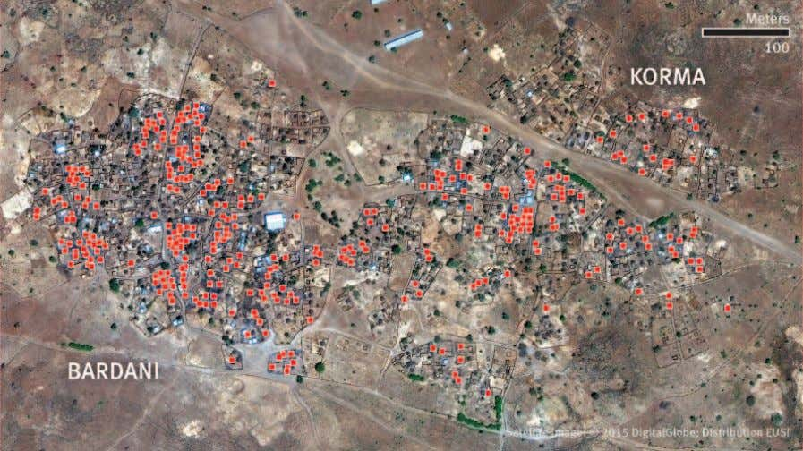 PROBABLE ARSON DAMAGE IN BARDANI AND KORMA, CENTRAL DARFUR Human Rights Watch damage assessment based on